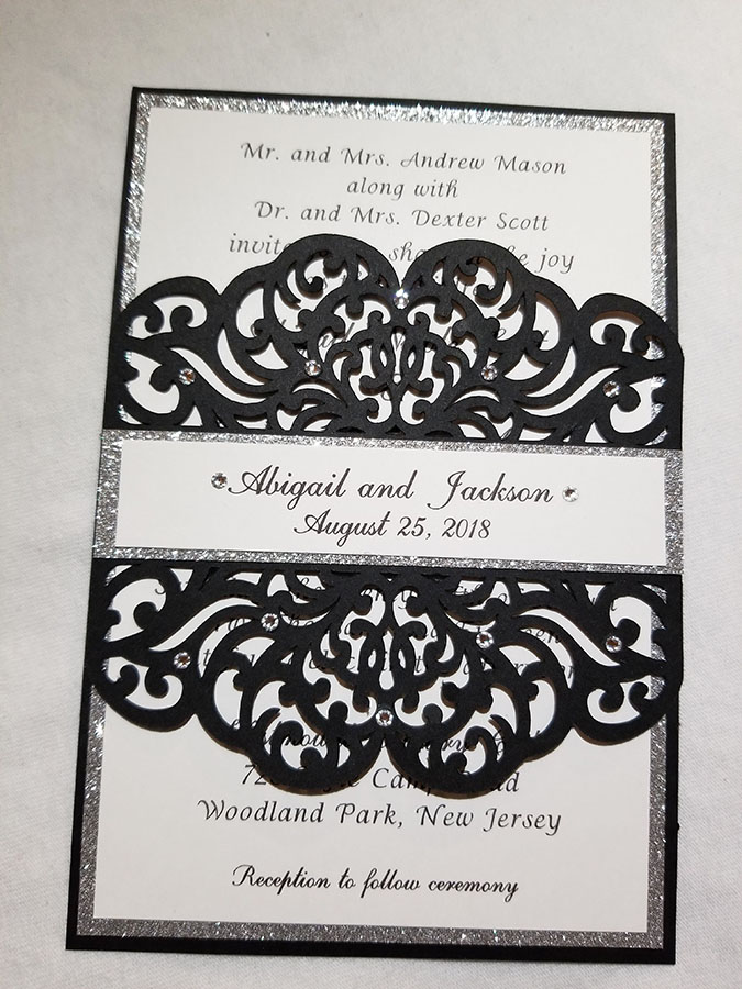 Lasercut wedding invite from Couture By Invitation